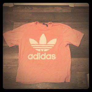 Pink Adidas Trefoil Boyfriend T Shirt